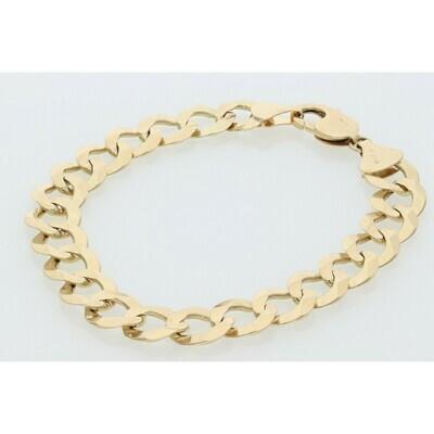 10 Karat Solid Gold Italian Curb Bracelet