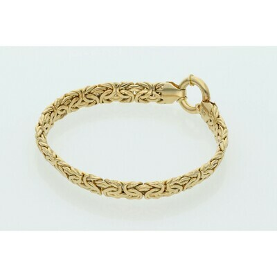 10 Karat Gold Byzantine Bracelet