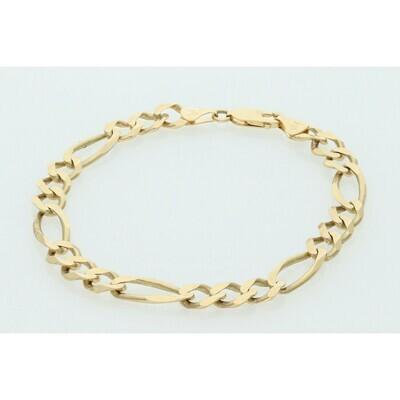10 Karat Solid Gold Figaro Bracelet