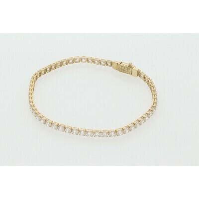10 Karat Gold & Zirconium Tennis Bracelet