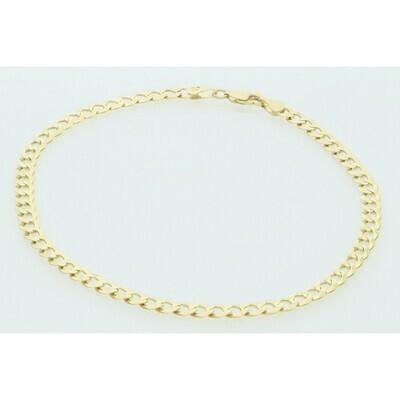 10 Karat Solid Gold Italian Curb Anklet