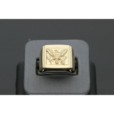 14 Karat Gold Liberty Eagle Ring