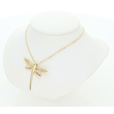 14 Karat Gold Fancy Dragonfly Chain + Charm