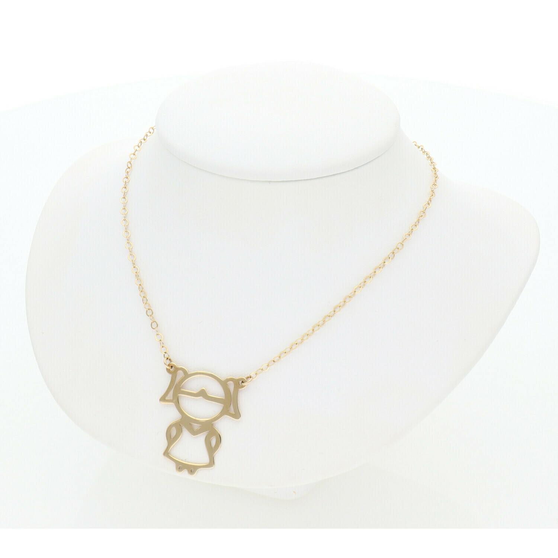 14 Karat Gold Girl Rollo Necklace