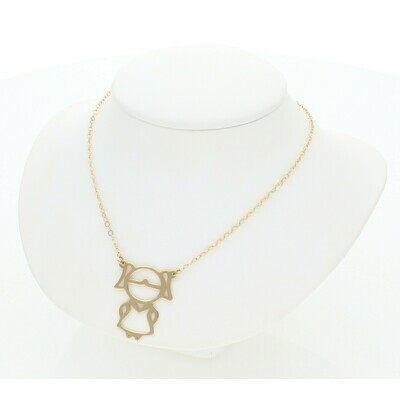 14 Karat Gold Girl Rollo Necklace