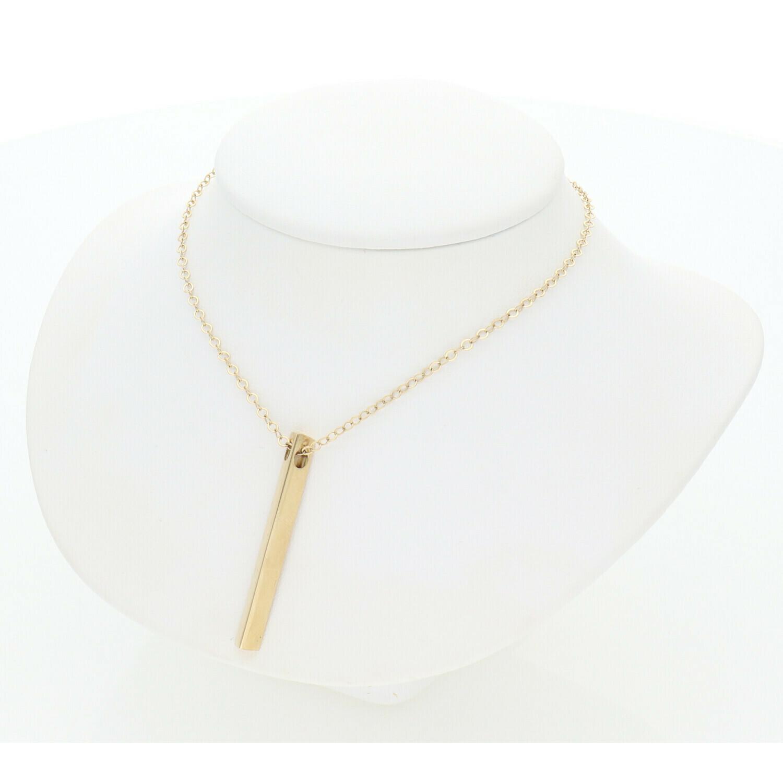 14 Karat Gold Fancy ID Rollo Necklace