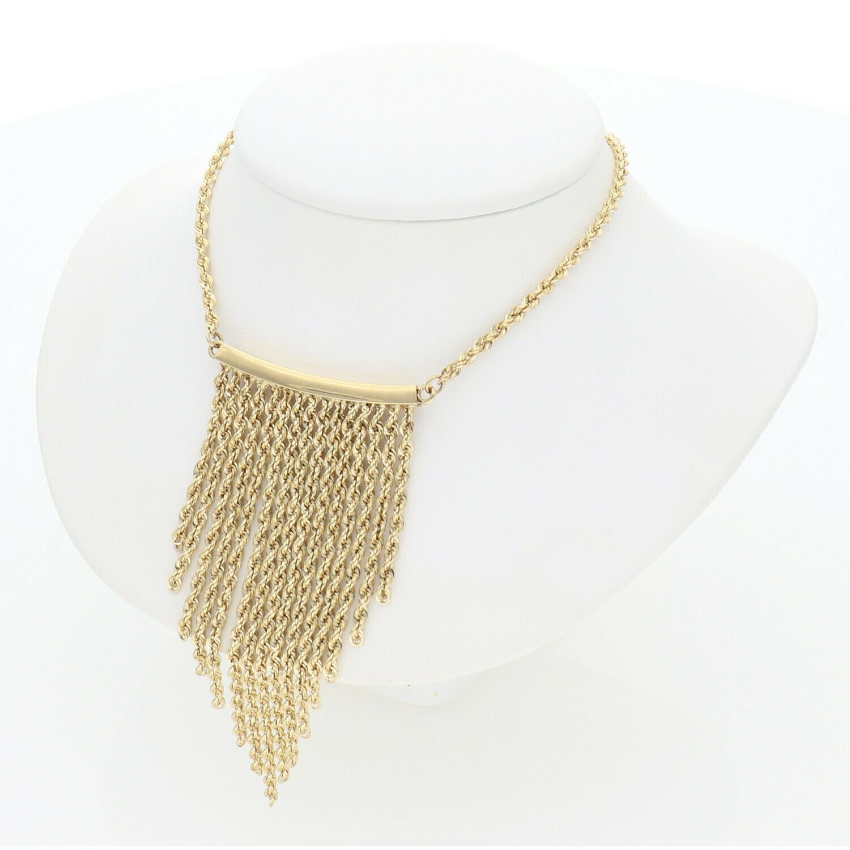 14 Karat Gold Fancy Rope Necklace
