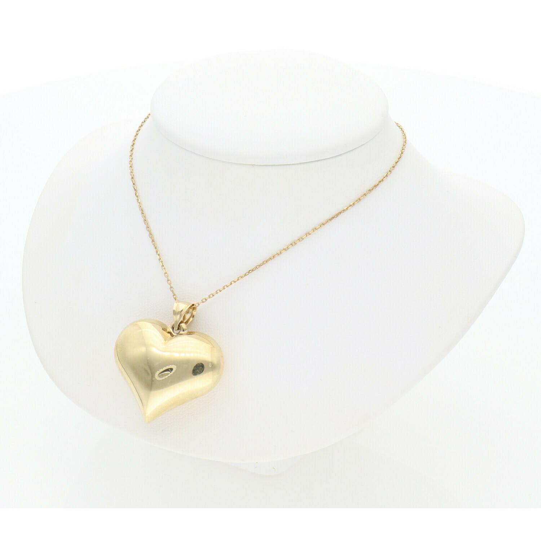 10 Karat Gold Heart Rollo Chain