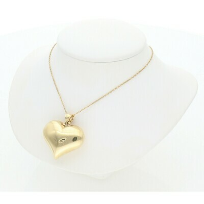 10 Karat Gold Heart Rollo Chain