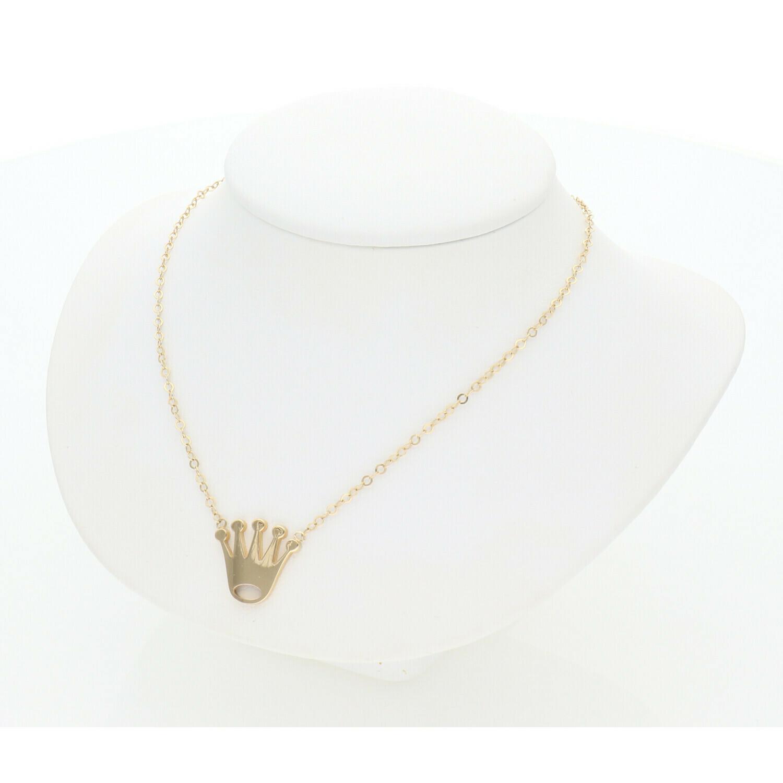 14 Karat Gold Crown Rollo Necklace
