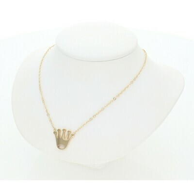 14 Karat Gold Crown Rollo Necklace