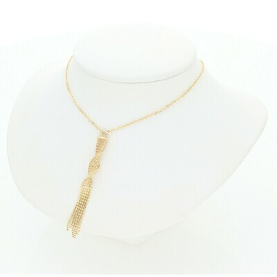 14 Karat Gold Fancy Moon Pendant Rollo Necklace