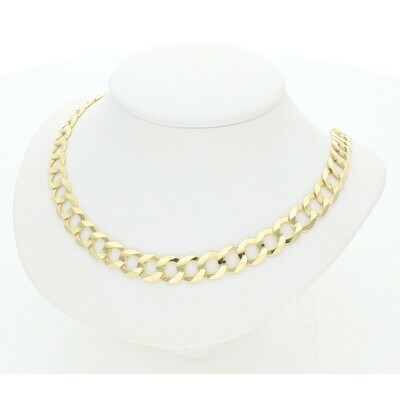10 Karat Solid Gold Italian Curb Chain