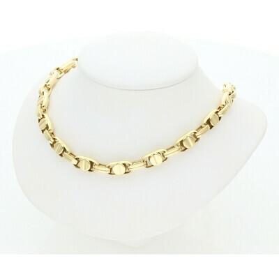 10 Karat Gold Screw Fancy Chain 7.1 mm x 22 in W: 21.8 ~