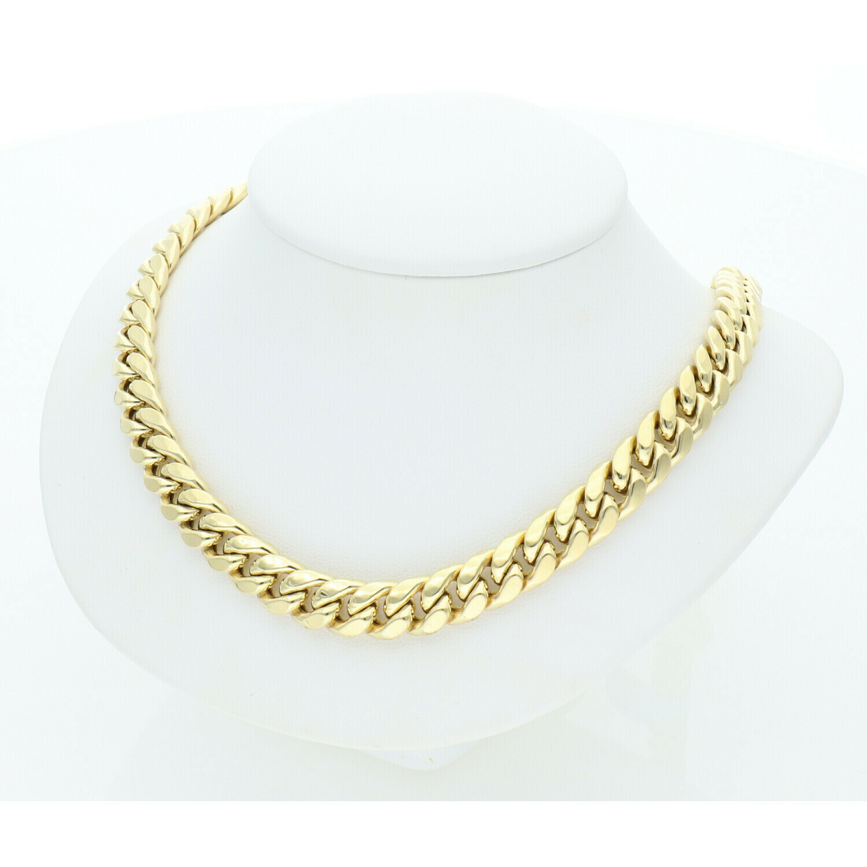 10 Karat Gold Miami Cuban Link Chain 8 Millimeters