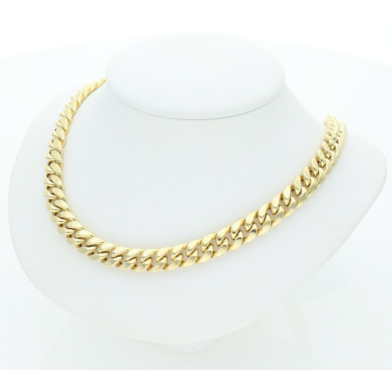 10 Karat Gold Miami Cuban Link Chain 7 Millimeters