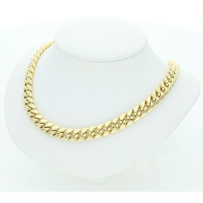 10 Karat Gold Miami Cuban Link Chain 7 Millimeters