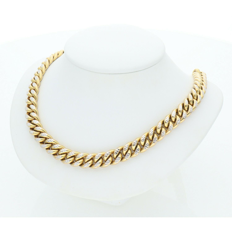 10 Karat Gold & Pave Miami Cuban Link Chain 8.8 mm  x 24