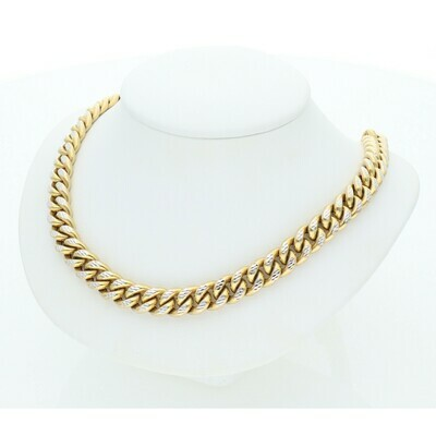 10 Karat Gold & Pave Miami Cuban Link Chain 8.8 mm  x 24