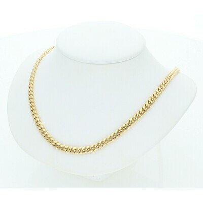 10 Karat Gold Miami Cuban Link Chain 4 Millimeters
