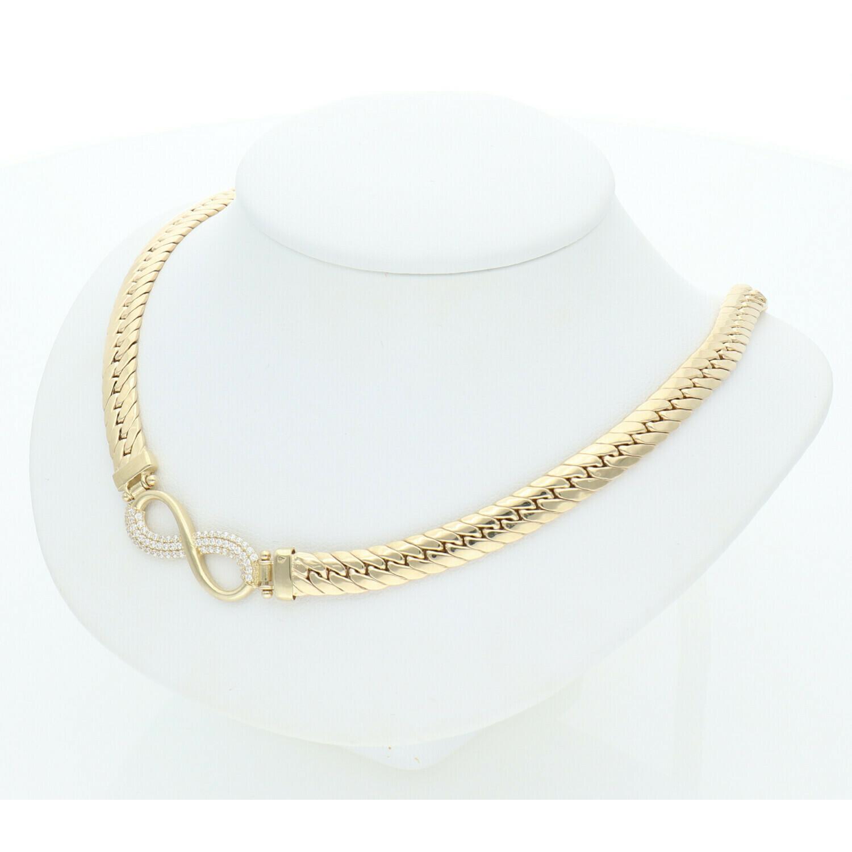10 Karat Gold & Cz Infinite Symbol Italian Miami Cuban Link Chain 6.3mm x 18