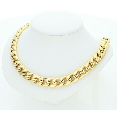 10 Karat Gold Miami Cuban Link Chain 10 Millimeters