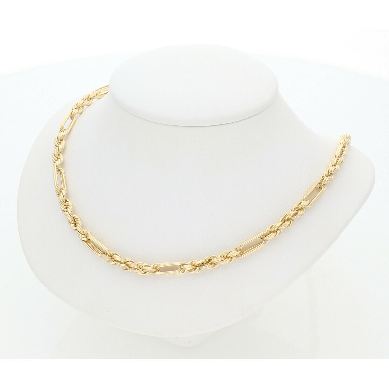 10 Karat Gold Figaro Rope Chain