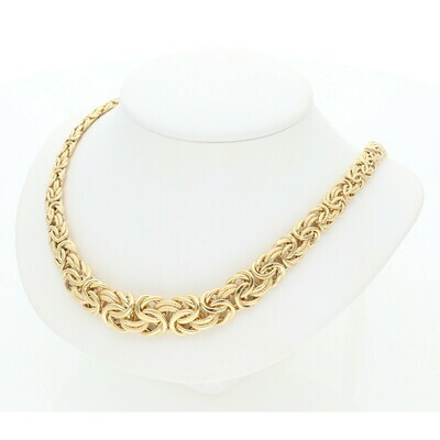 14 Karat Gold Byzantine Necklace