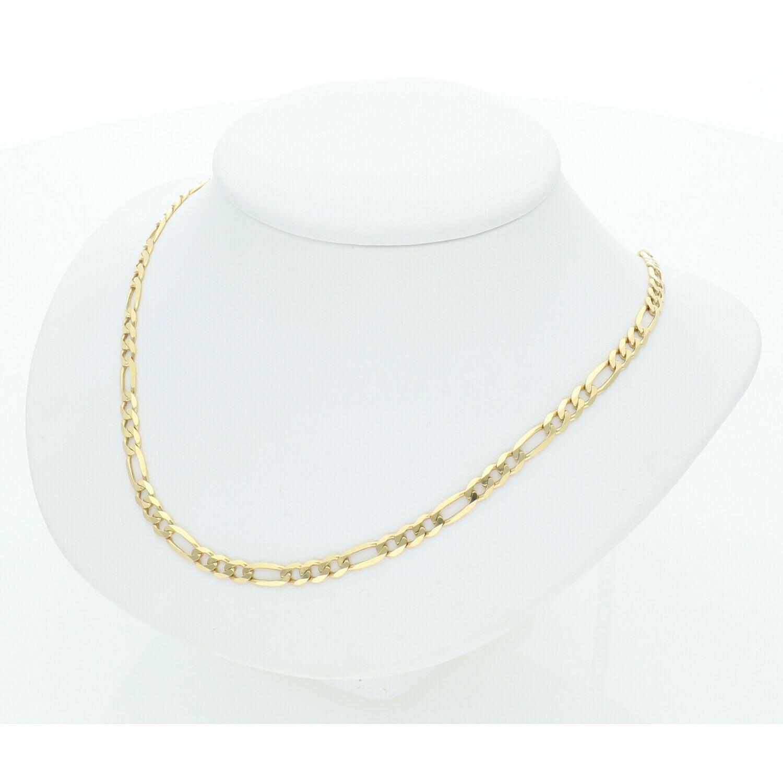 10 Karat Solid Gold Figaro Chain 3 Millimeters