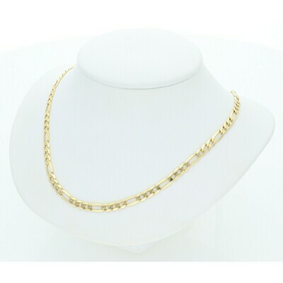 10 Karat Solid Gold Figaro Chain 3 Millimeters