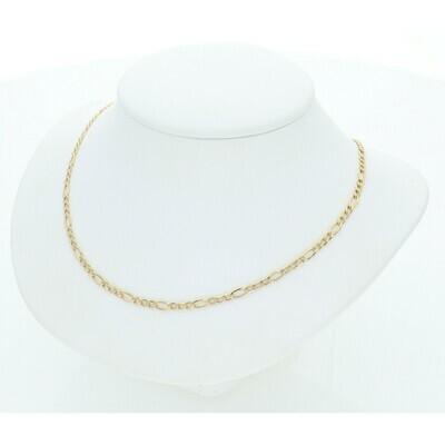 14 Karat Solid Gold Figaro Chain