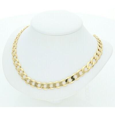 14 Karat Solid Gold Italian Curb Chain
