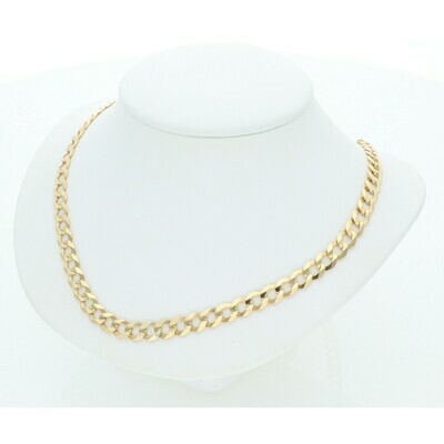 14 Karat Solid Gold Italian Curb Chain