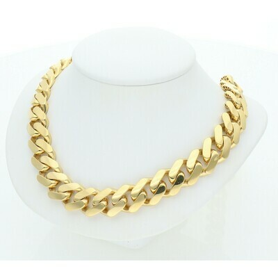 14 karat Gold Cuban Link Monaco Chain 11.3 mm x 26