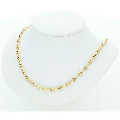 10 Karat Gold Puff Mariner Chain