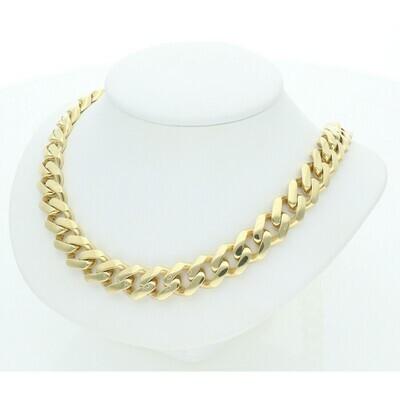 10 Karat Gold Cuban Link Monaco Chain 11 Millimeters