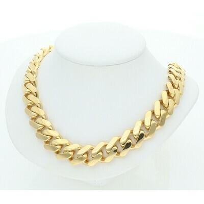 10 Karat Gold Cuban Link Monaco Chain 13 Millimeters