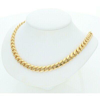 10 Karat Gold Cuban Link Monaco Chain 7 Millimeters