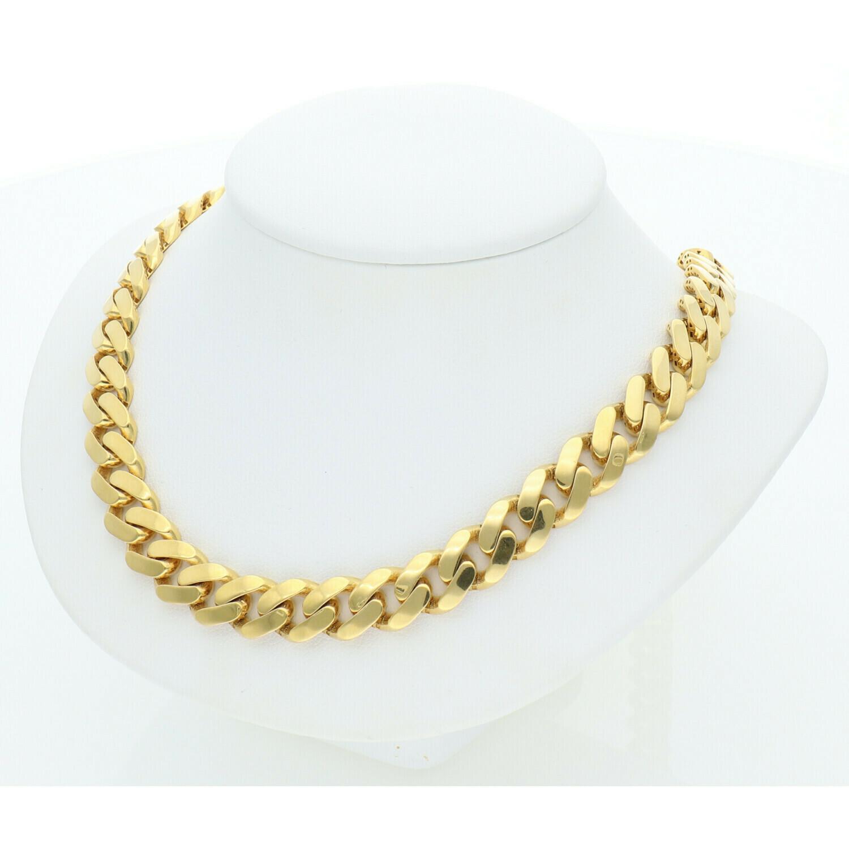 10 Karat Gold Cuban Link Monaco Chain 9 MM