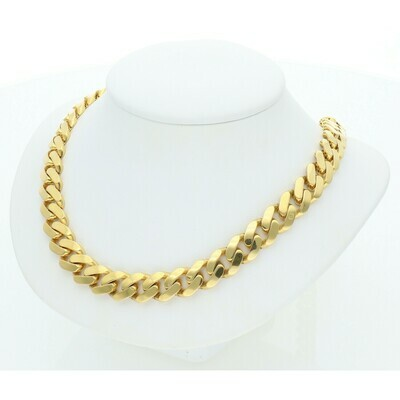 10 Karat Gold Cuban Link Monaco Chain 9 MM