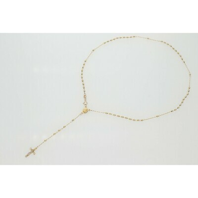 10 Karat Gold Straight Ball Rosary