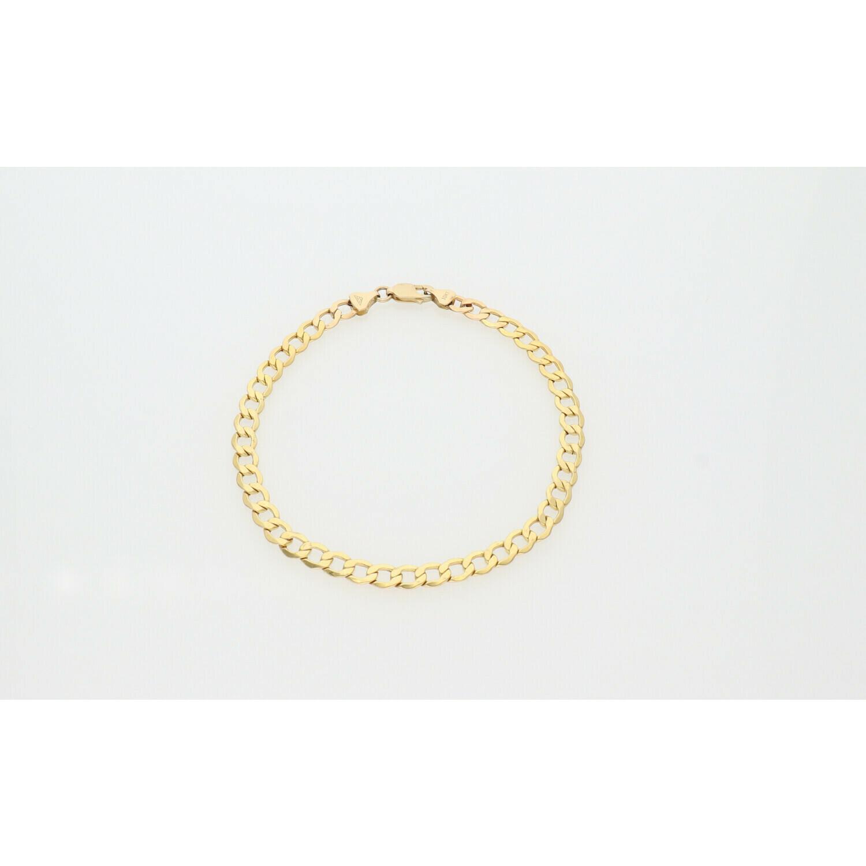 10 Karat Gold Italian Curb Anklet