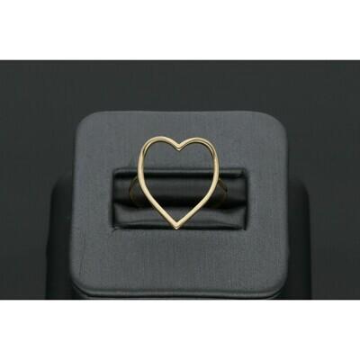 10 Karat Gold Lined Heart Ring