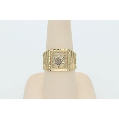 14 Karat Gold Leaf Ring