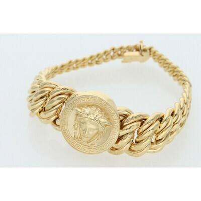 10 Karat Gold Medusa Princess Bracelet