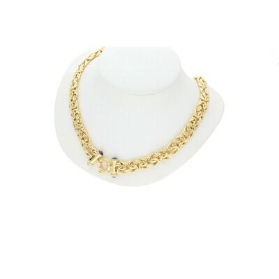14 Karat Gold Byzantine Chain