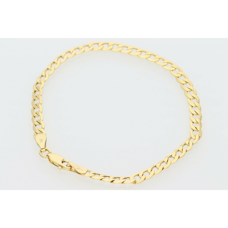 10 Karat Gold Italian Curb Bracelet 4MM