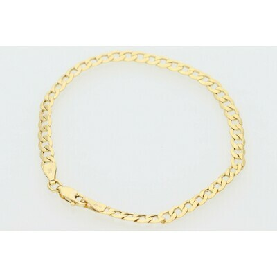 10 Karat Gold Italian Curb Bracelet 4MM
