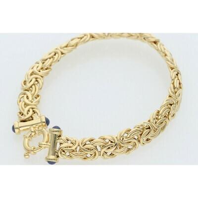 14 Karat Gold Byzantine Bracelet