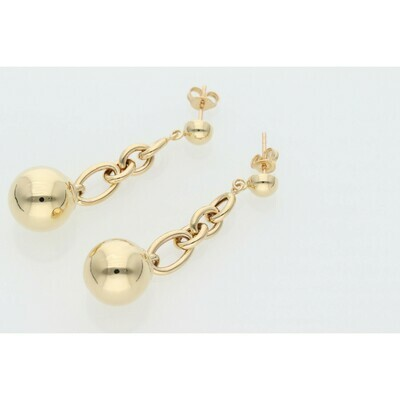 14 Karat Gold Rollo Ball Earrings